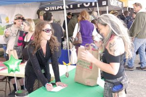 Carmel doing the Shake and Sniff Ganja Game at Cannifest